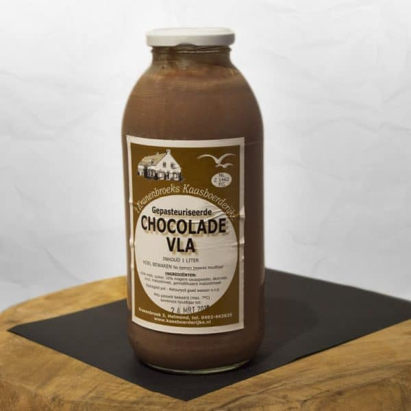Chocolade vla van 't Kranenbroeks Kaasboerderijke
